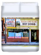 Coney Island Lunch Duvet Cover