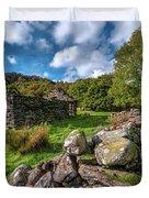 Cottage Ruin Snowdonia Duvet Cover