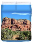 Courthouse Rock, Sedona Duvet Cover by Dawn Richards