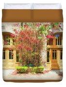 Courtyard Doors St Augustine 002 Duvet Cover