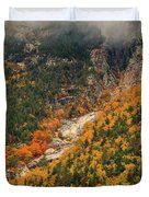 Crawford Notch Fall Foliage Duvet Cover