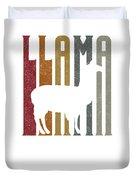 Cute Funny Llama Make Me Happy Retro Llamas Duvet Cover