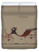 Design For Cabriolet Or Victoria, No. 3558  1879 Duvet Cover