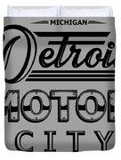 Detroit Motor City Duvet Cover