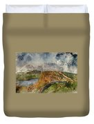 Digital Watercolor Painting Of Beautiful Landscape Image Of Hadr Duvet Cover