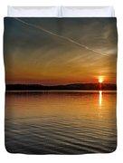 Dog Lake Sunset Duvet Cover