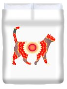Fire Flower Cats Duvet Cover