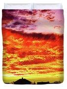 Fire In The Sky Duvet Cover