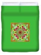 Flower Garden Mandala Duvet Cover