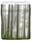 Foggy Forest Duvet Cover by Karen Zuk Rosenblatt