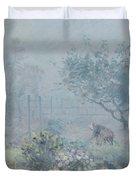 Foggy Morning, Voisins, 1874 Duvet Cover