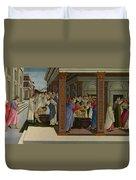 Four Scenes From The Early Life Of Saint Zenobius  Duvet Cover