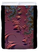 Fractal Playground In Pink Duvet Cover by Shelli Fitzpatrick