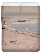 From The Beach At Sele  Duvet Cover