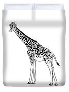 Giraffe - Ink Illustration Duvet Cover