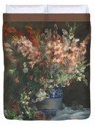 Gladioli In A Vase  Duvet Cover