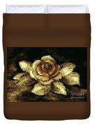 Antique Gold Rose Duvet Cover