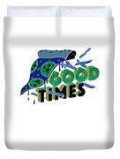 Good Old Times Pizza Fries Born In The 90s Husband Wife Duvet Cover