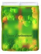Green Environment Duvet Cover