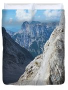 Grey Mountains Duvet Cover