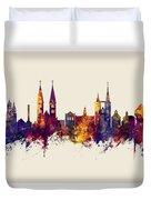Halberstadt Germany Skyline Duvet Cover