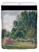 Haystacks, Morning, Eragny, 1899 Duvet Cover