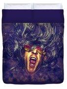 Heavy Metal Rock Star Duvet Cover