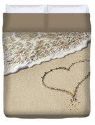 I Love The Beach Duvet Cover
