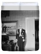 In The Photo The New President Of The Republic Urho Kekkonen Is Photographed At The Presidential Pa Duvet Cover