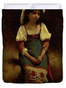 Italian Woman Duvet Cover
