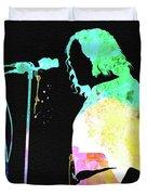 Joe Cocker Watercolor Duvet Cover