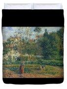 Kitchen Garden At The Hermitage, Pontoise, 1879 Duvet Cover