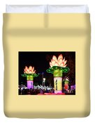 Large Lanterns In The Shape Of Lotus Flowers Duvet Cover