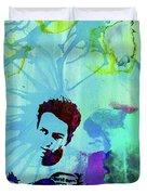 Legendary Joe Strummer Watercolor Duvet Cover