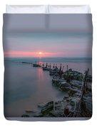 Longhoughton Beach - England Duvet Cover