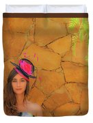 Mamin With Hat Duvet Cover