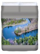 Manistee River Bend From Above Duvet Cover
