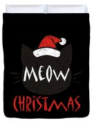 Meow Christmas Distressed Duvet Cover