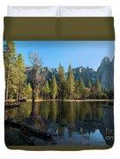 Merced River Reflection, Yosemite National Park Duvet Cover