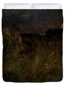 Moonrise Over The Dunes  Duvet Cover