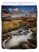 Mountains North Wales Duvet Cover