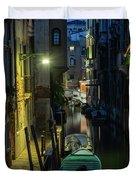 Night Walk In Venice Duvet Cover