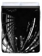 Nyc In Black And White Vii Duvet Cover