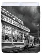On The Midway - Temptations Of The Night 4 Bw Duvet Cover