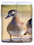 Pair Of Wood Ducks Duvet Cover