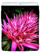 Pink Princess Bromeliad Duvet Cover