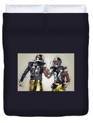 Pittsburgh Steelers.le'veon Bell And Antonio Brown Duvet Cover