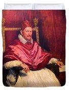 Pope Innocent X Duvet Cover