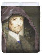 Portrait Of An Old Woman  Duvet Cover
