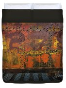 Railcar Abstract Duvet Cover